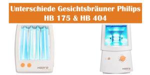 Philips Solarium HB 175 und HB 404 Unterschiede