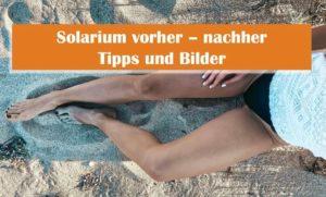 Solarium vorher nachher mit Tipps und Bildern, Beine einer Frau im Sand, sie trägt einen schwarzen Bikini und ein weißes T-Shirt